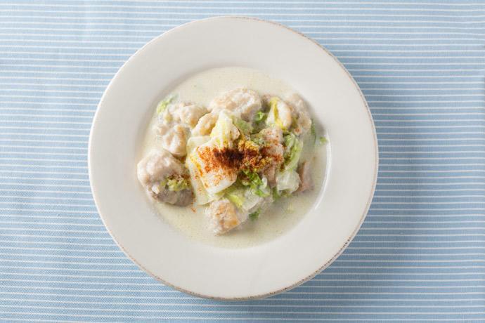 Mottainaiレシピ 冷凍野菜 白菜編2 冷凍白菜と鶏肉のクリーム煮